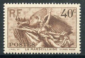 Adaptable Timbre De France Neuf N° 315 * La Marseillaise / Photo Contractuelle Cote 6 €