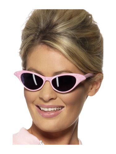 Sostienen Rock /& Roll Damas Vestido de Disfraz Accesorio Rosa 1950s Gafas de sol