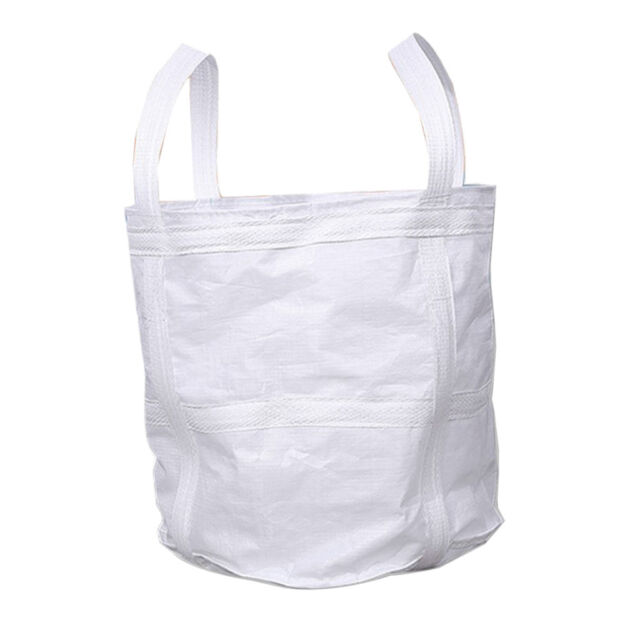 LARGE WHITE BULK BAGS FIBC BUILDER WASTE 1 TONNE TON BAG SACK JUMBO BRAND