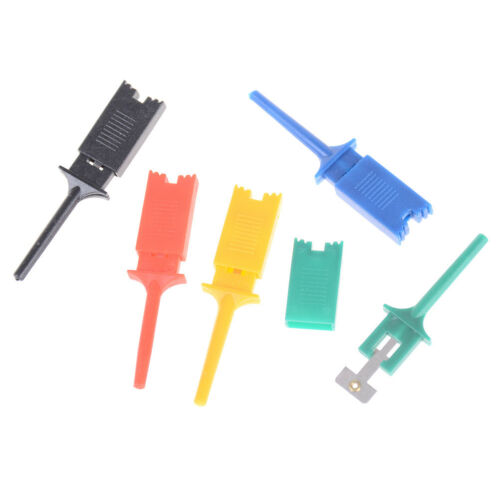 10x Multimeter SMD IC SOIC Mini Test Clip Haken Grabbers Sonde Jumper 5 Farbe AB