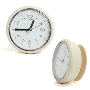 Ivory Bathroom Mirror Suction Clock Shower Room Clock