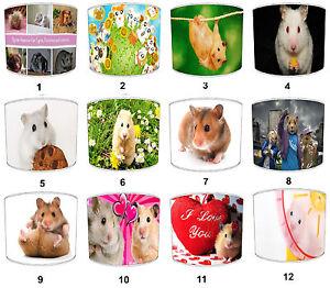 Abat-jour Design Enfants Hamsters, Idéal Pour Assortir Décalques et Stickers Muraux.