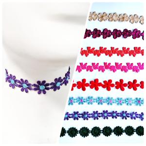Fino Tatuaje De Encaje Floral Retro único Rose Fiesta Collar Gargantilla Collar Reino Unido Ⅲ