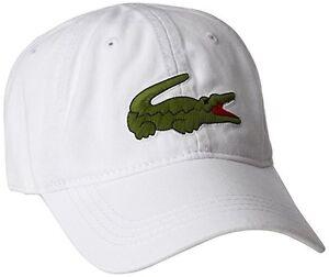 5feebf3bf10c NEW RK8217 51 001 Lacoste Men s Gabardine Cap with Large Crocodile ...