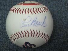 Lou Brock Gary Carter Felipe Alou Vladimir Gurrero Cardinals Autographed ball