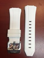 Authentic Technomarine White Silicone Strap With Silver Buckle 45mm