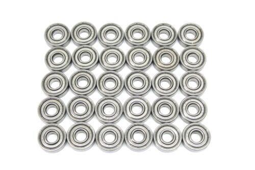 608-ZZ Ball Bearing 8x22x7 Dual Shielded Metal Chrome Skateboard 608Z 30 PCS LOT
