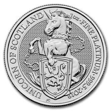 2019 Great Britain 1 oz Platinum Queen's Beasts The Unicorn