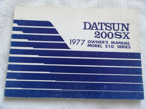 1977 Datsun 200SX Owners Manual 77 200 SX Nissan