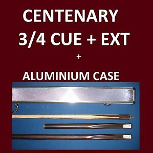 4-pce-x-3-4-SNOOKER-CUE-amp-CASE-SET-get-in-for-X-MAS-Quality-Ash-Package