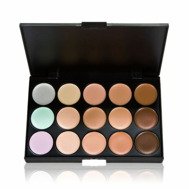Professional Salon Party Concealer Contour Face Cream Makeup Palette 15 Colors