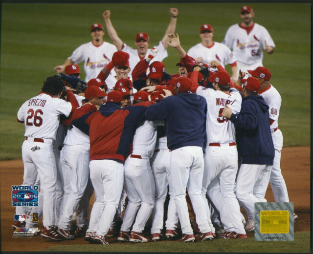 St. Louis Cardinals 2006 World Series Team Celebration 8x10 Photo W/ Toploader