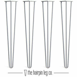 4x Premium Hairpin Table Legs  FREE Screws amp Feet 28 inch 3 Rod Bare - MALMESBURY, United Kingdom - 4x Premium Hairpin Table Legs  FREE Screws amp Feet 28 inch 3 Rod Bare - MALMESBURY, United Kingdom