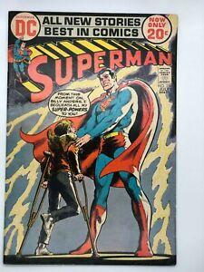 SUPERMAN-254-1972-DC-BRONZE-AGE-COMIC-THE-KID-WHO-STOLE-SUPERMAN-039-S-POWERS