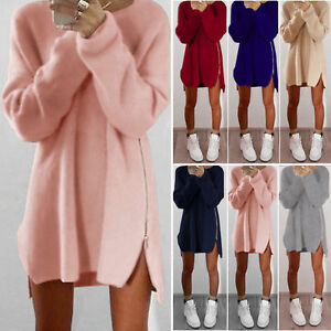 Oversized-Women-Long-Sleeve-Knit-Cardigan-Jumper-Tops-Loose-Casual-Sweater-Dress