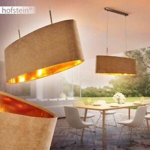 Vintage goldfarbene Hänge Lampe Pendel Leuchte Wohn Ess Zimmer Beleuchtung