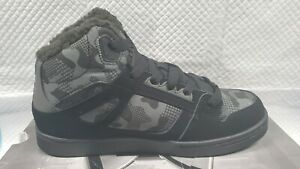 DC SHOES PURE HIGH TOP WINTERIZED BLACK - CAMO ADBS100245 CA2 BOYS Sz 6.5