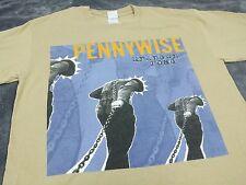 PENNYWISE Vintage T Shirt 90's TOUR Concert PUNK BAND sz L Unknown Road EPITAPH