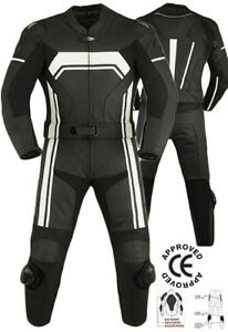 MOTORCYCLE-MOTORBIKE-CE-Approved-ARMOUR-PROTECTION-RACING1-amp-2-PIECES-LEATHER-SUIT