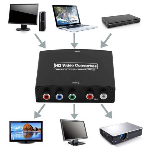 HDMI to 5RCA RGB 4K Component YPbPr Video /& R//L Audio Adapter Converter HD TV