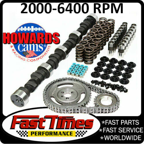 """HOWARD/'S 2000-6200 RPM Chevy SBC 275//285 470/""""//470/"""" 112° Cam Kit with Timing Set"""
