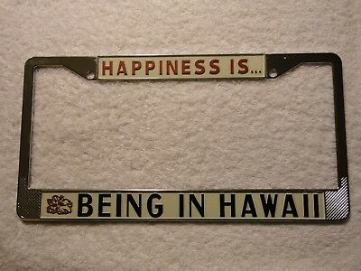 HAPPINESS IS BEING IN TUCSON Chrome License Plate Frame Tag Border