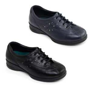 Padders KAREN 2 Womens Ladies Leather Super Wide Plus Fit 4E//6E Lace Trainers