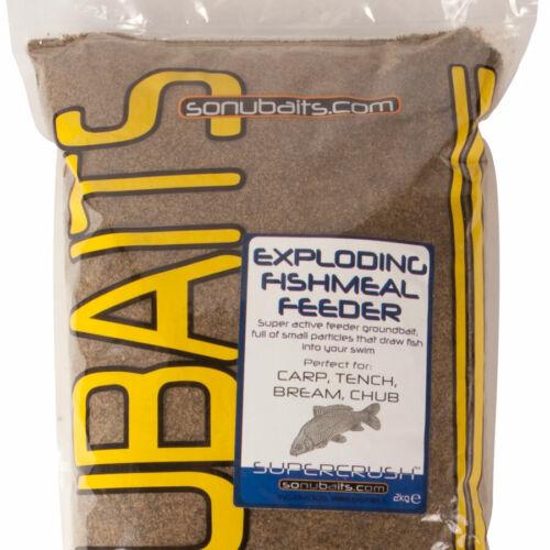 Sonubaits Exploding Fishmeal Feeder 2kg NEW Carp//Coarse Fishing Bait