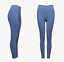 Light Blue Womens High Waisted Leggings Gym Workout Yoga Pants with small defect