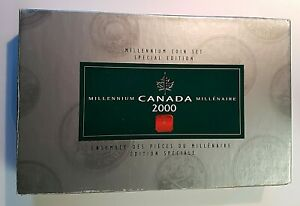 Canada-2000-Millennium-Special-Edition-13-Quarter-Proof-Coin-Set-Ori