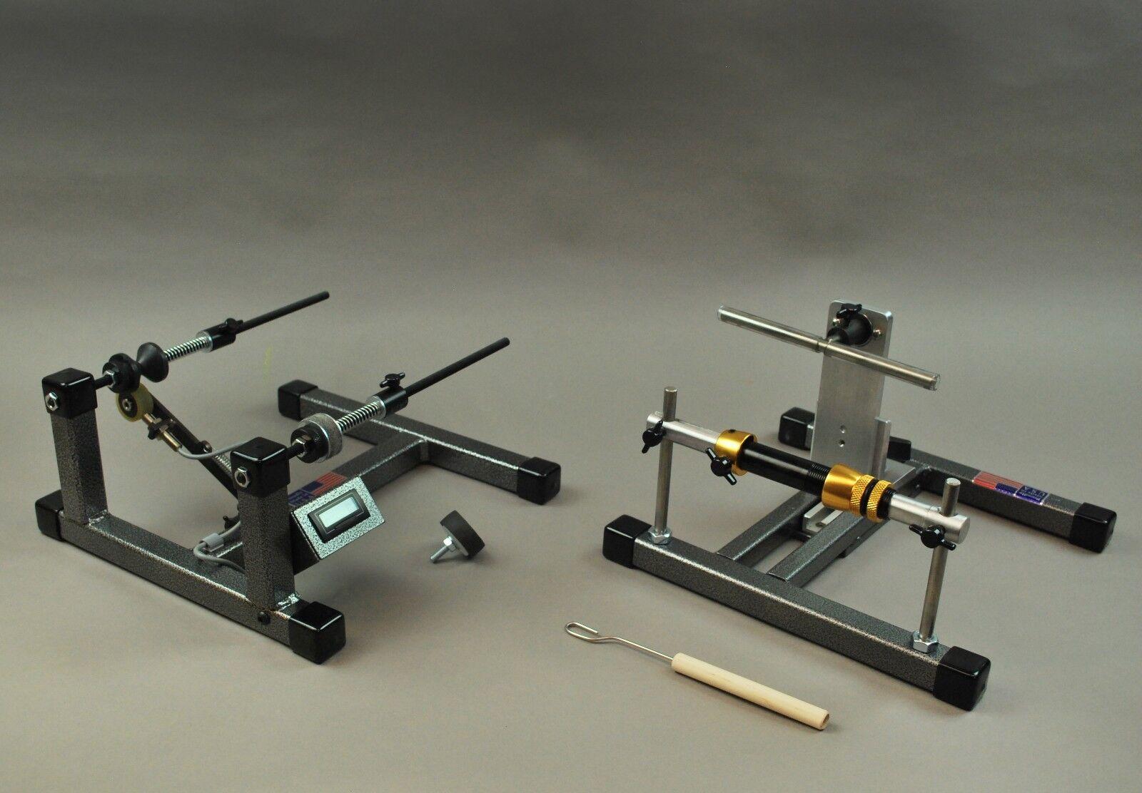 Reel Winder II + Super Spooler + Digital Counter for holding line, spooling reel