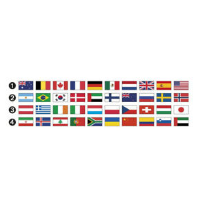 Responsable Flag Set Pour Supports Manèges Opéra Étriers