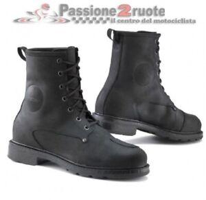 Scarpe moto Tcx X-blend WP nero black shoes waterproof impermeabili