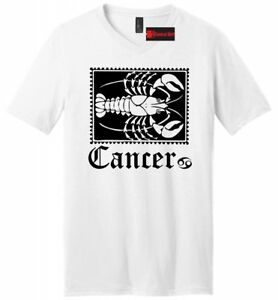 Details about Horoscope Cancer Mens V-Neck T Shirt June July Birthday Party  Gift Tee Shirt