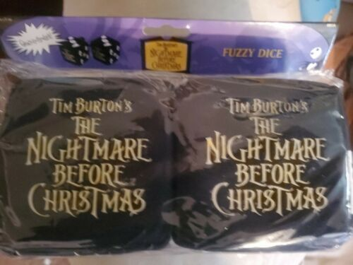 Nightmare Before Christmas Plush Fuzzy Dice new in Package