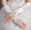 Brauthandschuhe-fingerlos-Braut-Handschuhe-Strass-Perlen-Hochzeit-Elfenbein-Weiss Indexbild 6