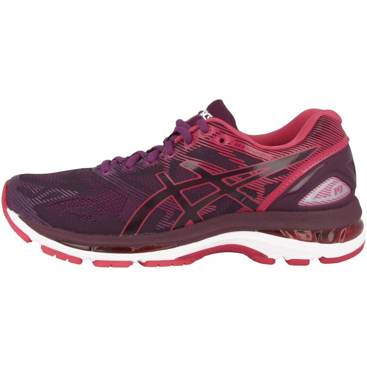 Asics Gel-Nimbus 19 Damens Damen Laufschuhe schwarz pink bloom Running T750N-9020