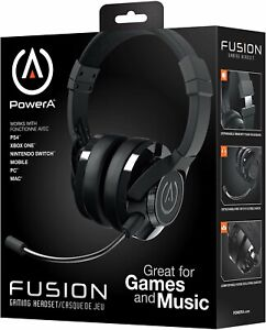 Details about Power A FUSION Gaming Headset Multi Platform:0 Xbox One, PS4,  PC