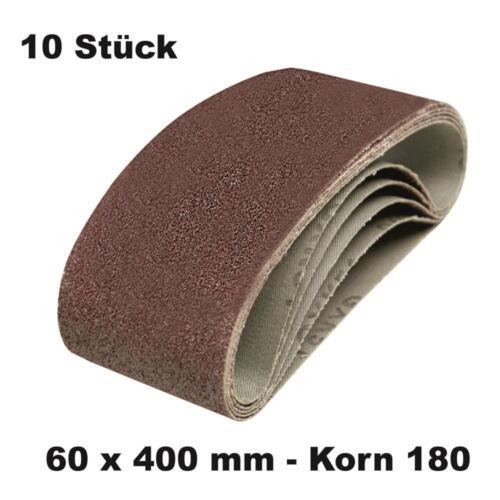 10 DKB Gewebe Schleifbänder  60 x 400 mm Schleifband Bandschleifer Korn 180