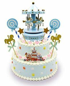 Surprising Carousel Happy Birthday Cake Bunting Topper Cake Topper Garland Funny Birthday Cards Online Necthendildamsfinfo