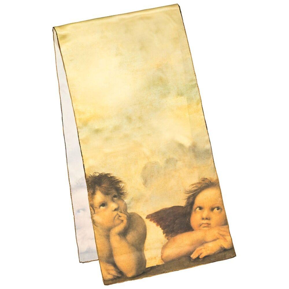 Seidenschal Damen Satin lang elegant Accessoire braun Kunst Kunst Kunst Raffael  Engel 1738 | Tragen-wider  | In hohem Grade geschätzt und weit vertrautes herein und heraus  | Räumungsverkauf  5ffc91