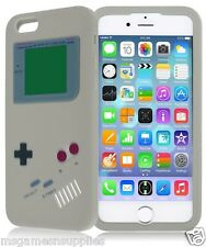 "Gray Gameboy Game Boy Retro Gamer Silicone Gel 3D Case for iPhone 6 4.7"" 4.7"