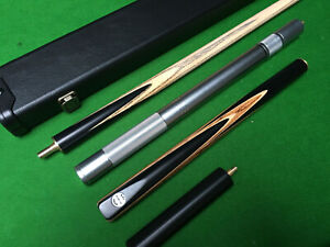 HANDMADE-3-4-JOINTED-EBONY-ASH-SNOOKER-POOL-CUE-CASE-EXTENSION