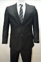 Men's Black 2 Button Modern Fit Suit Size 48l