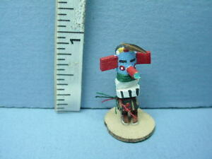 """Dollhouse Miniature Katchina Doll """"Prickly Pear"""" Hand Carved 1/12th Scale"""