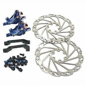 Fast Shipping JUIN TECH R1 Hydraulic Disc Brake set 160mm w// Rotor F+R ,Black