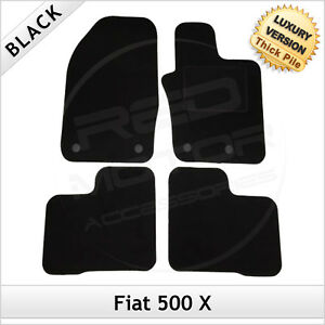 Fiat 500 Left Hand Drive DELUXE QUALITY Tailored mats 2012 2013 2014 2015 2016 2