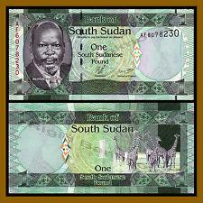 South Sudan 1 Pound, 2011 P-5 John Garang Giraffe Unc