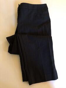NEW TALBOTS Women's Sz 10 PETITES CURVY Black Crop Chino Pants Cotton Stretch