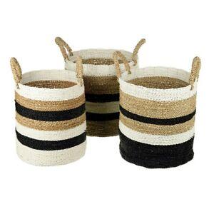 Seagrass-CITRA-Basket-Flower-Plants-Pots-Log-Laundry-Storage-Bathroom-PARLANE